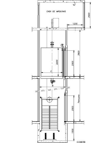 Planta Elevador de Carga para Indústria